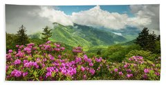 Appalachian Mountains Spring Flowers Scenic Landscape Asheville North Carolina Blue Ridge Parkway Beach Towel