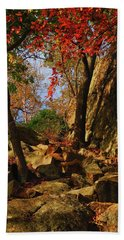Appalachian Trail Heads Up Bear Mountain Beach Towel
