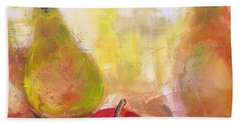 Apple And Pears Painting By Lisa Kaiser Beach Towel