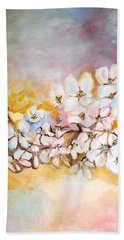 Beach Sheet featuring the painting Apple Blooms by Donna Dixon