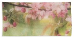 Apple Blossom Frost Beach Towel