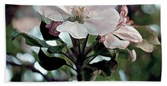 Beach Towel featuring the painting Apple Blossom Time by RC deWinter