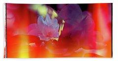 Apple Blossoms Beach Sheet by Elaine Hunter
