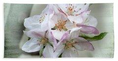 Apple Blossoms From My Hepburn Garden Beach Sheet