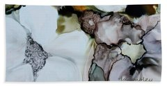 Beach Sheet featuring the painting Apple Blossoms by Joanne Smoley
