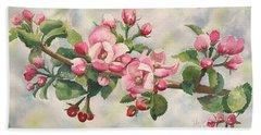 Apple Blossoms Beach Sheet