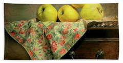 Beach Towel featuring the photograph Apple Cloth by Diana Angstadt