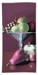Apple  Pears And Grapes Beach Towel