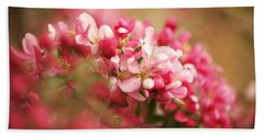 Apple Tree Flowers In Spring Beach Sheet