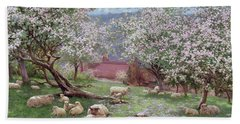 Appleblossom Beach Towel by William Biscombe Gardner