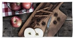 Beach Towel featuring the photograph Apples And Cinnamon  by Kim Hojnacki