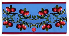 Apples Bramble Beach Towel by Adria Trail