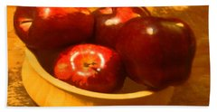 Apples In A Bowl Beach Towel
