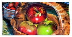 Apples In A Burled Bowl Beach Towel