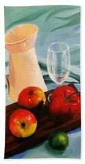 Apples, Lime And Capsicum Beach Towel