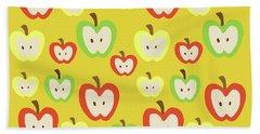 Apples Beach Towel by Nicole Wilson