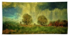 Beach Towel featuring the digital art Approaching Storm At Antietam by Lois Bryan