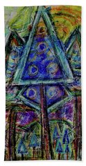 Beach Towel featuring the mixed media Approaching The Blue Hour by Mimulux patricia No