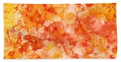 Beach Towel featuring the painting Apricot Delight  by Patricia Lintner