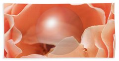 Apricot Rose With Sphere Beach Sheet