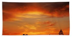 Beach Towel featuring the photograph Apricot Sunset by Mark Blauhoefer