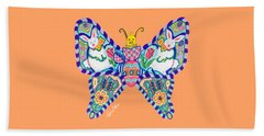 April Butterfly Beach Towel