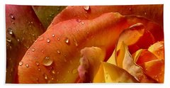 Beach Towel featuring the photograph April Showers by Marie Neder