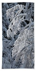 April Snow Beach Towel