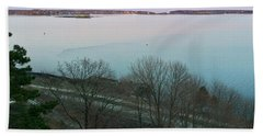 April Twilight On Casco Bay Beach Sheet