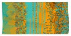 Aqua And Copper Abstract Beach Towel