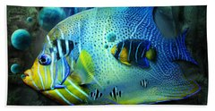 Aqua Fantasy Art World Beach Sheet