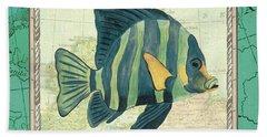 Aqua Maritime Fish Beach Towel