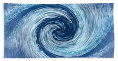 Aqua Swirl Beach Towel by Keith Armstrong