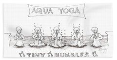 Aqua Yoga Beach Sheet