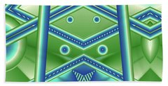 Beach Towel featuring the digital art Aquamarine by Ron Bissett