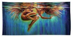 Aquarian Rebirth II Divine Feminine Consciousness Awakening Beach Towel