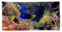 Aquarium Adventures In Abstract Beach Towel