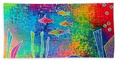 Aquarium Beach Towel by Jeremy Aiyadurai