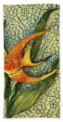 Beach Towel featuring the photograph Aquarium On The Wall by Itzhak Richter