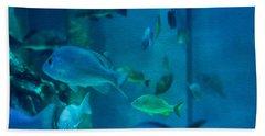 Aquarium View Beach Towel