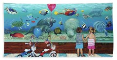 Aquarium With Twins Towel Version Beach Towel