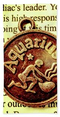 Aquarius Zodiac Sign Beach Towel by Jorgo Photography - Wall Art Gallery