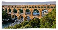 Aqueduct Pont Du Gard Beach Towel