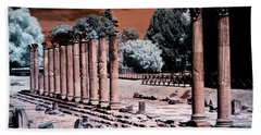 Beach Towel featuring the photograph Aquileia, Roman Forum by Helga Novelli