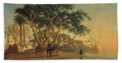 Arab Oasis Beach Towel by Narcisse Berchere