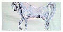 Arabian Stallion  Beach Sheet by Cheryl Poland