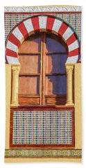 Arabic Window Of Spain Beach Sheet