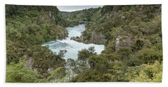 Beach Towel featuring the photograph Aratiatia Rapids by Gary Eason