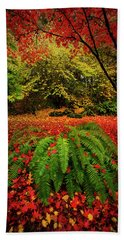 Arboretum Primary Colors Beach Towel