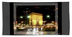 Arc De Triomphe By Bus Tour Greeting Card Poster V1 Beach Sheet